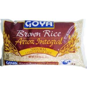 Goya Arroz integral de grano largo natural, 2 libras