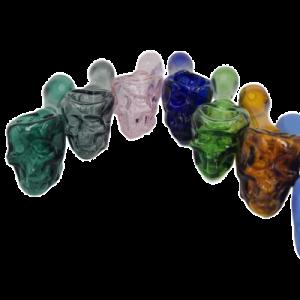 Pipa de calavera sólidos transparentes Pyrex