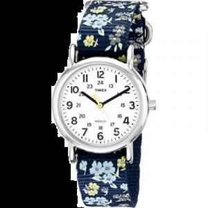 Timex Weekender Reloj para mujer a prueba de agua, Reloj de pulsera de 1,22 pulgadas