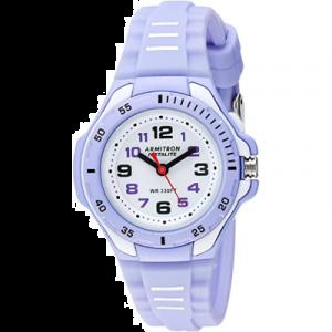 Armitron Sport 25/6433PUR Reloj para mujer a prueba de agua, Reloj de pulsera de silicona