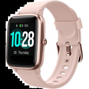 HAFURY Reloj inteligente de actividad para mujeres a prueba de agua, Android e iOS, monitor de ritmo cardíaco, IP68 natación impermeable reloj con calorías paso sueño Tracker