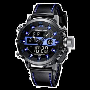 MEGALITH - Reloj digital para hombre, militar, deportivo, táctico, resistente al agua, multifunción, resistente y LED, para hombres, alarma cronómetro