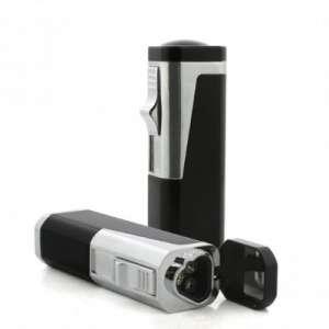 TIFÓN Antorcha de llama triple con cortador de balas retráctil en caja de regalo (negro)