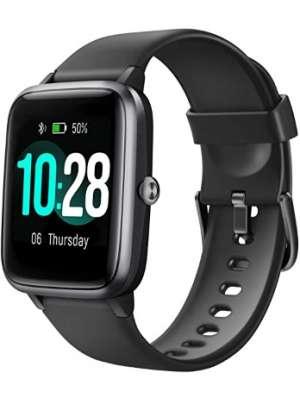 Letsfit Reloj para hombre a prueba de agua, reloj inteligente, rastreador de actividad con monitor de frecuencia cardíaca; monitor de actividad con pantalla táctil de 1.3 pulgadas, podómetro, con monitor de sueño, contador de pasos