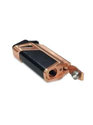 ANTORCHA MATRIX COBRE. Encendedor antorcha de cigarros de diseño contemporáneo con 3 llamas y cortador perforador incorporado