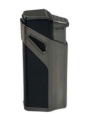 ANTORCHA MATRIX GUN METAL. Encendedor antorcha de cigarros de diseño contemporáneo con 3 llamas y cortador perforador incorporado