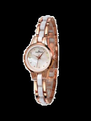 KEEP IN TOUCH Reloj para mujer a prueba de agua, reloj de pulsera de acero inoxidable de cuarzo, reloj de lujo, dos tonos