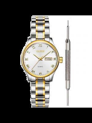 OLEVS Reloj para mujer a prueba de agua Reloj analogico de cuarzo para mujer, acero inoxidable, números romanos, calendario único, fecha de negocios