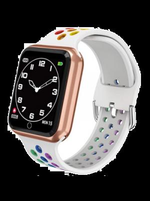 ZGPAX Reloj para mujer a prueba de agua, rastreador de fitness, correa de silicona, batería de 15 días, correa de reloj transpirable, con detección de frecuencia cardíaca, detección de sueño