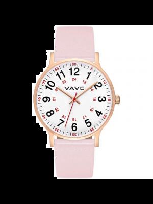 VAVC Reloj para mujer a prueba de agua, para estudiantes de medicina, médicos, con segundero y formato 24 horas Reloj fácil de leer.