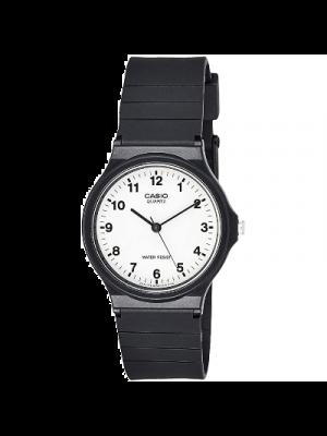 Casio (Modelo: MQ24/7B), Reloj para mujer a prueba de agua, reloj de pulsera de resina de cuarzo, color negro
