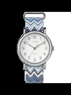 Timex Weekender Reloj para mujer a prueba de agua, pulsera deslizante de 38 mm.