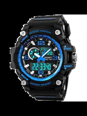 Dayllon  Reloj para hombre a prueba de agua analógico digital LED 164.0 ft deportivo militar multifunción casual doble pantalla 12H/24H cronómetro calendario reloj de pulsera